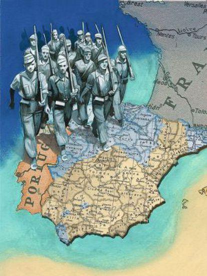 Ilustración de 'La Guerra Civil contada a los jóvenes'.