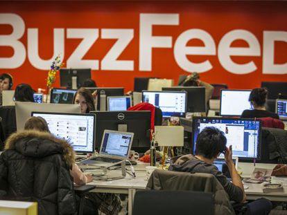Redacción de BuzzFeed en Nueva York.