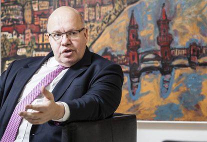 Peter Altmaier, ministro de Finanzas en funciones del Gobierno alemán y de la presidencia en Berlín durante la entrevista.