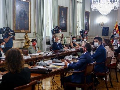 La comisión bilateral entre Gobierno y Generalitat, en Madrid.