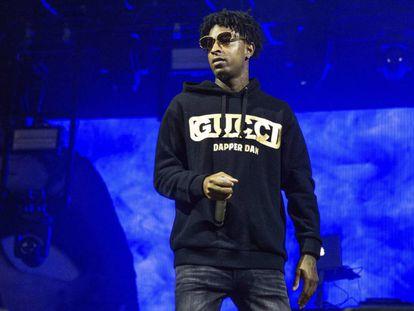 21 Savage, durante un concierto en Nueva Orleans (EE UU) el pasado octubre.