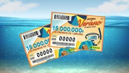 El sorteo Extra de verano de la ONCE se sortea este domingo 15 de agosto