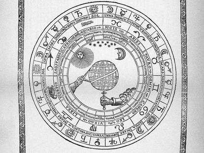 Rueda perpetua original  de 1617 en la que se basa la utilizada en la portada del 'Calendari dels pagesos' desde 1874.