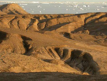 La gran extinción quedó registrada en los fondos marinos de la isla Seymour (en la imagen) en la península antártica.
