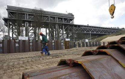 Obras en el canal Havel-Oder.
