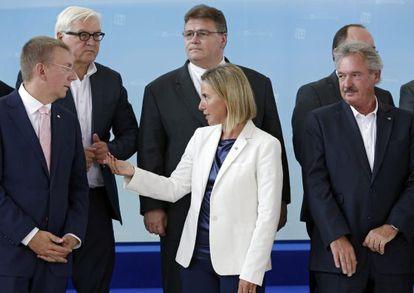 Reunión de ministros de Exteriores de la UE en Luxemburgo.