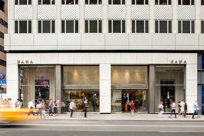 Fachada de la tienda que Zara tiene en la Quinta Avenida de Nueva York