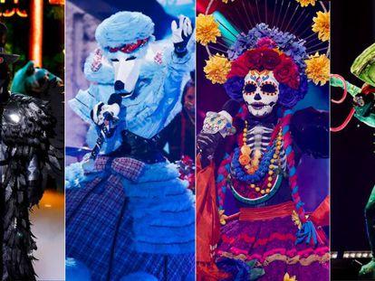Los cuatro finalistas de 'Mask Singer'.