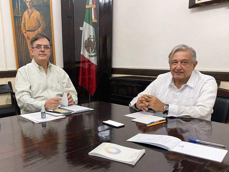 López Obrador y el canciller Marcelo Ebrard hablaron por teléfono con el presidente electo Joe Biden desde la ciudad de Valladolid (Yucatán).
