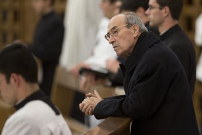El cardenal Velasio De Paolis, en enero de 2014 durante una misa en Roma.