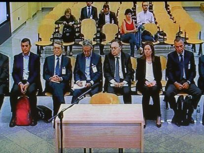 Banquillo de los acusados del juicio del caso del saqueo de la CAM.