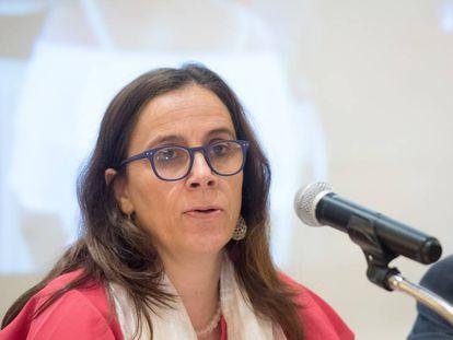 Antonia Urrejola, durante el primer informe de la CIDH en Managua.