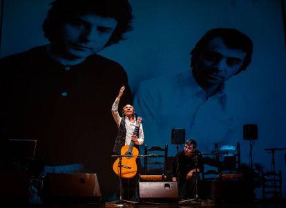 Pepe Habichuela, al inicio del homenaje ayer en Granada.