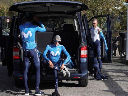Soler, Mas y Valverde, preparados para entrenarse en Arrate.