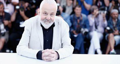 El director británico Mike Leigh, ayer en Cannes.