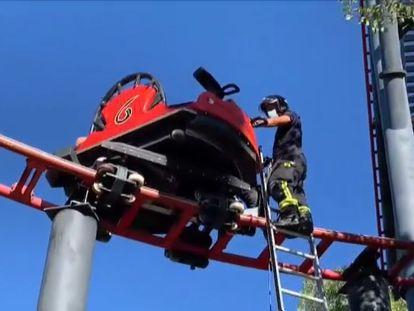Rescate en el Parque de Atracciones de Madrid tras un fallo en una montaña rusa