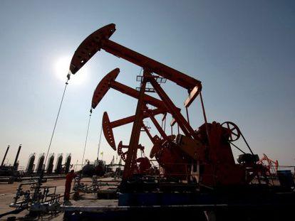 Una instalación petrolera.