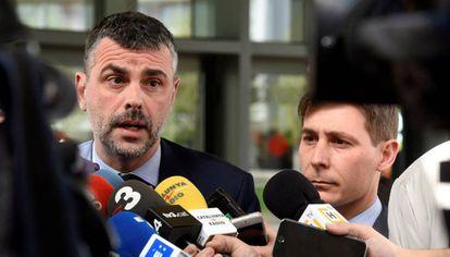 Santi Vila tras declarar ante la juez acusado por su negativa a devolver las obras de Sijena.