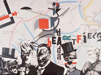 Equipo Crónica. 'Heartfield Lissitzky', 'collage' de 1973.