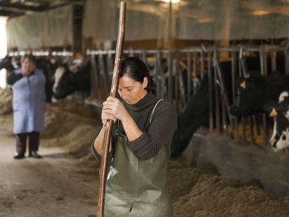 Teresa Fariña en su granja en A Laracha