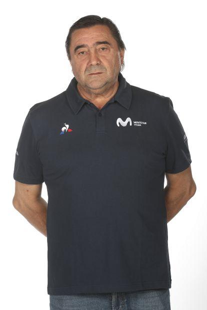 Jesús Hoyos, en el álbum del equipo Movistar de 2020.