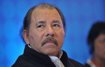 El presidente de Nicaragua durante un evento en Panamá.
