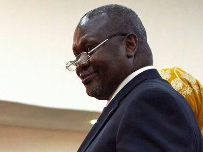 Riek Machar durante la jura del cargo de vicepresidente de Sudán del Sur el pasado 22 de febrero en Juba.