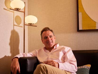 El historiador Niall Ferguson, fotografiado en el hotel Citrine, en Palo Alto (California) este 26 de agosto.