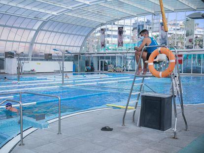 La piscina del gimnasio Dir Diagonal, en Barcelona.