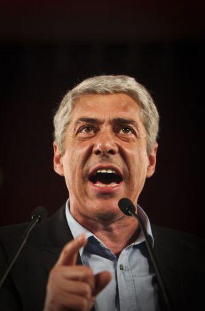 José Socrates durante un discurso en 2011.