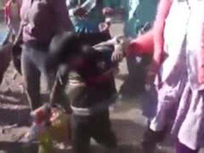 Captura del vídeo pubicado en la cuenta de Facebook de Ica en Directo.
