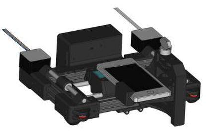 Prototipo del escáner 'low cost' que convierte al teléfono móvil en un microscopio