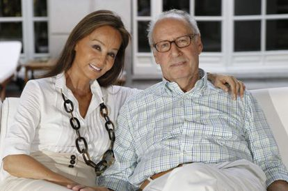 Isabel Preysler y Miguel Boyer en su domicilio.