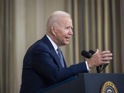 Joe Biden habla a los medios el 3 de septiembre en la Casa Blanca.