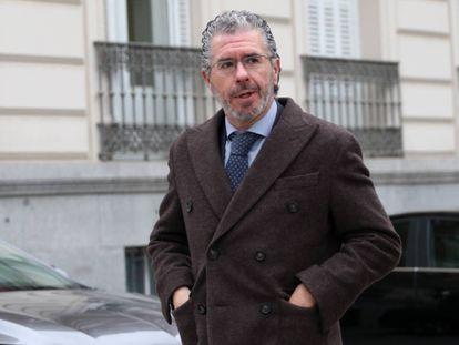Francisco Granados, a su llegada a la Audiencia Nacional en marzo de 2018.