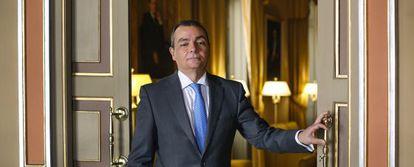 El presidente de la CEV, Salvador Navarro, durante la entrevista.