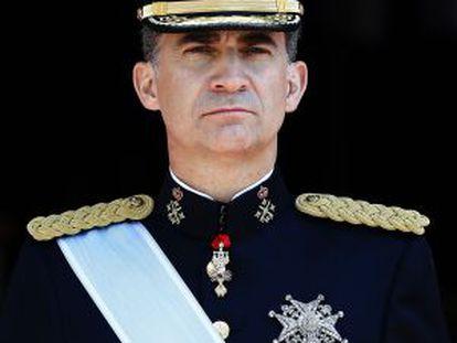 El rey Felipe, el día de su proclamación, el pasado 19 de junio.
