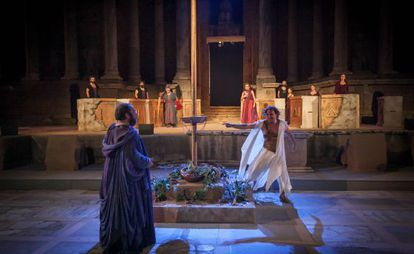 'Edipo Rey', de Teatro del Noctámbulo, es una de las producciones del Festival de Teatro de Mérida que se podrán ver en Madrid.
