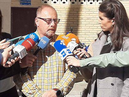 Antonio del Castillo atiende a la prensa el pasado 10 de febrero de 2020.