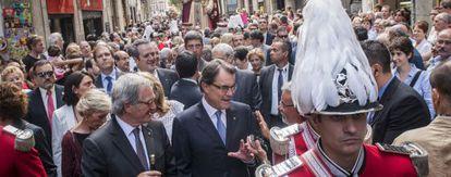Artur Mas y Xavier Trias durante las fiestas de la Mercè.