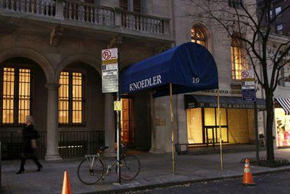 Fachada de la galería Knoedler & Company, en la calle número 70 en Manhattan. Anunció su cierre en noviembre tras 165 años de actividad en la ciudad.