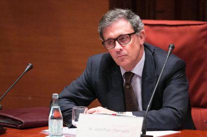 Jordi Pujol Ferrusola en el Parlament.