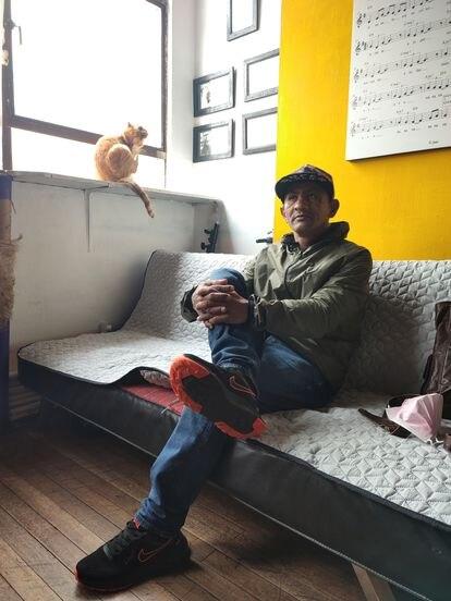 Giovani Gallego, ex habitante de la calle y rehabilitado desde hace cuatro años.
