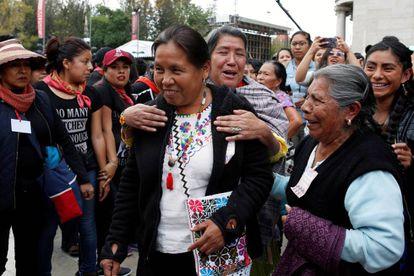 Marichuy, en un evento en Ciudad de México el 11 de febrero.