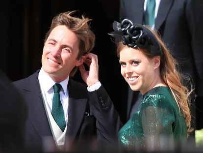 Beatriz de York y Edoardo Mapelli Mozzi, en una boda en agosto de 2019.