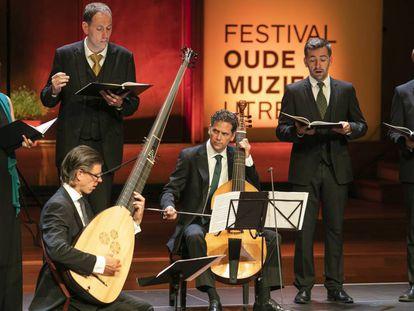 El grupo Vox Luminis durante el concierto de clausura del Festival de Música Antigua de Utrecht.
