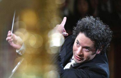 Gustavo Dudamel, en los ensayos el 30 de diciembre de 2016 del Concierto de Año Nuevo en Viena.