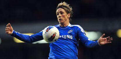 Fernando Torres, en un partido con el Chelsea