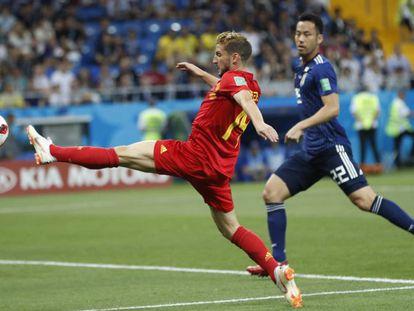 Mertens, en el partido contra Japón.