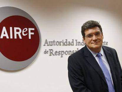 El presidente de la Autoridad Independiente de Responsabilidad Fiscal (AIReF), José Luis Escrivá.